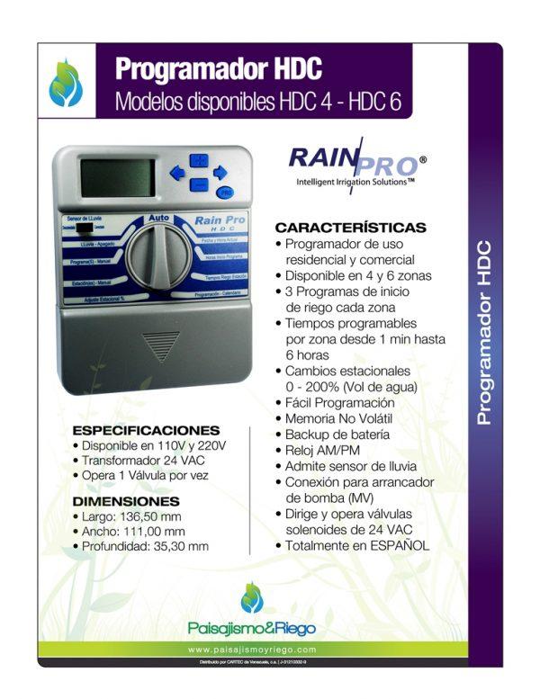 Ficha Técnica Programador Rain Pro